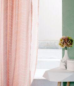 Cotton weave curtains