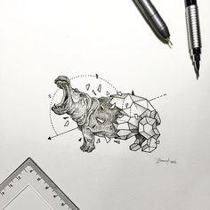 Geometric Beasts | Hippo