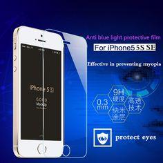 Protector de pantalla de cristal templado para iphone 5 5s 5c se hd templado película protectora
