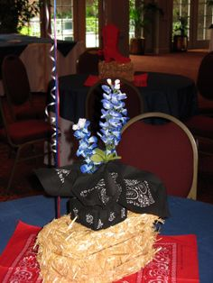 Rodeo/Country Western Centerpiece by www.idealpartydecorators.com
