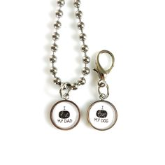 I Love My Dad | I Love My Dog | FURRY TALES, www.furrytales.no Dog Necklace, I Love My Dad, Animal Jewelry, I Love Dogs, Dads, Bling, Personalized Items, Products, Love My Dad