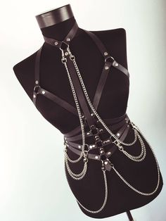 Leather Chest Harness with Chains | Chest Harness | Leather Top | Leather Belt | Leather Bondage | Leather Cage | Body Cage | Harness Bra by LeatherBodyHarness on Etsy https://www.etsy.com/se-en/listing/540110066/leather-chest-harness-with-chains-chest