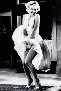 Marilyn Monroe Flying Skirt vintage print - Man Cave Ideas (theatre lounge)