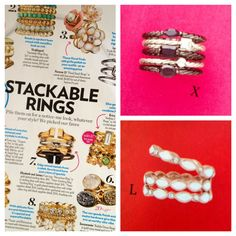 Stackable rings are HOT this season!  Good thing Premier Designs is on trend with two new Stackable Ring sets!