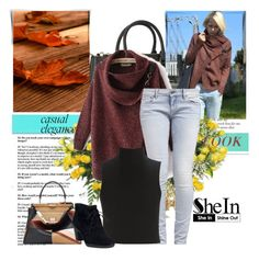 """""""Red Cardigan Sweater"""" by dzena-05 ❤ liked on Polyvore featuring Michael Kors, G-Star, Elizabeth and James, Fendi, Clarks and DENY Designs"""