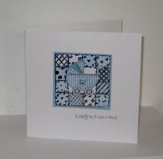 New Baby Boy Card by thesparklyfairy on Etsy, £2.50