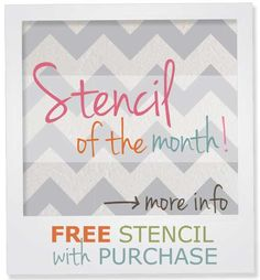 Chevron stencils. So trendy & our Furniture Chevron Stencil is our free stencil of the month of May with min. purchase!
