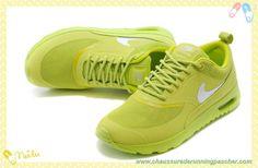 more photos 3d312 e17fb Fluorescent Jaune   Argent Nike Air Max Thea Print 599409-052 Femmes