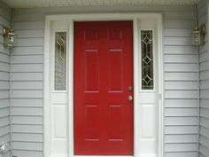 The red front door for the home pinterest front for Porte et fenetre verdun