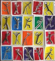 kids art using nature / art using nature for kids - kids art using nature - art projects for kids using nature Keith Haring, Middle School Art, Art School, High School, Site Art, Art Blog, Arte Elemental, Classe D'art, 3rd Grade Art