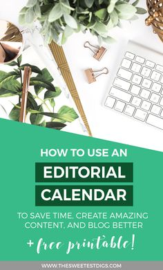 Want to blog better and faster? And never run out of blog post ideas? Stay on track by using an editorial calendar to plan all of your content. Check out the method and system that doubled my productivity, and click through for a free editorial calendar printable (date-less calendar so you can use it again and again)!!