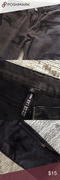 Camouflage jeans Cute jeans Design Lab Design Lab Pants Straight Leg