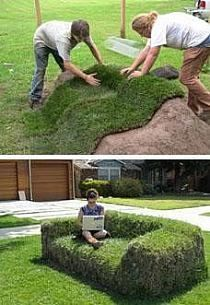 I wonder what other shapes you could use with this method. Grass topiaries?