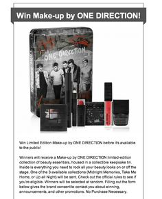 #OneDirection #1Direction #Directioners #Makeupby1D #TheLooksCollection #Markwins @brandbacker #Giveaway #Makeup #Makeupgiveaway