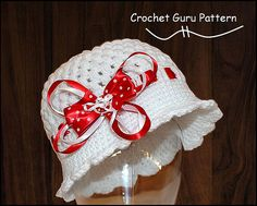 Crochet Cloche Hat - Crochet Pattern - 1920's Flapper Hat - 5 Sizes - Baby to Adult - Instant Download