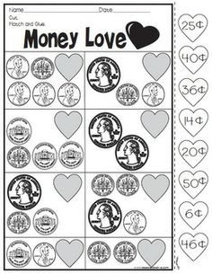 FREEBIE! FEBRUARY CUT AND PASTE PRINTABLES - *Hit download preview!