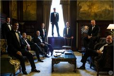Groomsmen photo-The Library Tremont Grand Baltimore,MD