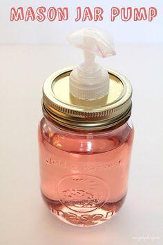 """""""Mason Jar Soap Pump"""" #DIY #jar"""