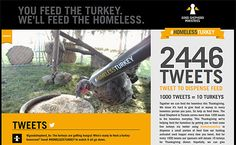 """Wish I'd seen this before Canadian Thanksgiving passed... """"#HomelessTurkey tweets feed turkeys & people alike"""" -- Click through for more information on the campaign plus a photo of a pop-up video display in Toronto."""