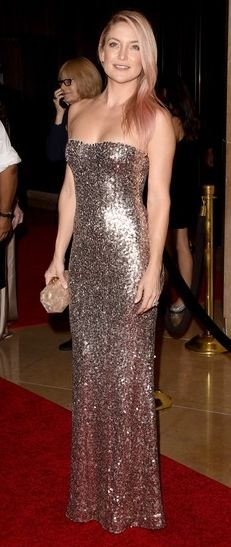Kate Hudson Pink Hair American Cinematheque Award red carpet
