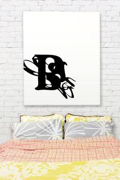 Affordable DIY Monogram Art