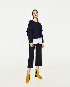 ZARA - TRF - FULL CONTRASTING TOP