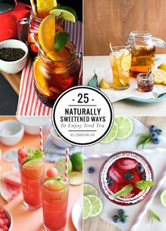 25 Refreshing + Healthy Iced Tea Recipes | HelloNatural.co