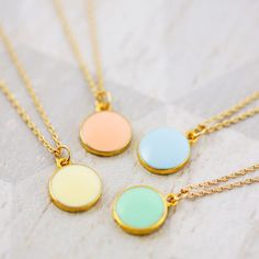 colourful enamel coin necklace by j&s jewellery | notonthehighstreet.com