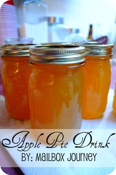 Apple Pie Drink made with Everclear
