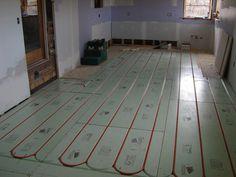 Warmboard radiant heat floor