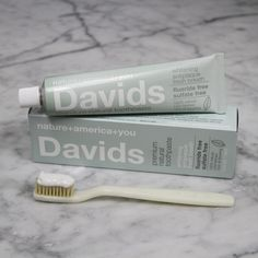 Davids Natural Toothpaste > fluoride-free > sls-free > natural ingredients > recyclable aluminum tube > made in usa www.davids-usa.com