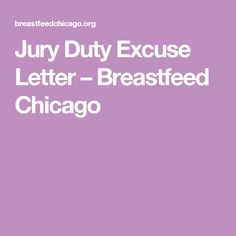 Sample Letter To Be Excused From Jury Summons  Letter Excuse Jury