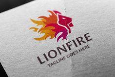 Lion Fire Logo @creativework247