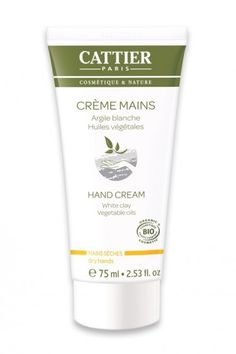 Organic White Clay Hand Cream from CATTIER, soon on Greenbee.sg!