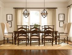 River House 9 Piece Dining Set with Host Chairs by Paula Deen by Universal