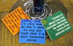 12 Snarky Happy Mother's Day Wine Charms For a Wine drinkin' MOM with a sense of Humor  'Sent In a Cool Gift Tin'  ALSO in sets of 6 & 8. $23.00, via Etsy.