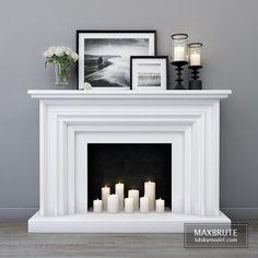 Bedroom Fireplace, Diy Fireplace, Fireplace Design, Decorative Fireplace, Above Fireplace Decor, Open Fireplace, Fireplace Modern, Fireplace Outdoor, Christmas Fireplace