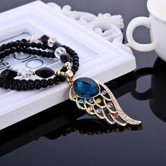 Korean Gemstone Prayer Beads Pendant Sweater Necklace 055 #madeinchina #necklace >http://dxurl.com/Rhv1