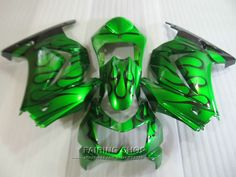 339.45$  Watch more here  - Unpainted injection mold fairing kit For Kawasaki ninja 250r 08 09 10-14 2008-2014 black flames green EX250 fairings set PO25