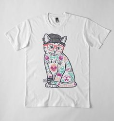 """Cats be all about themselves - you could say they put the """"me"""" in """"Me-ow"""".  Available at Red Bubble - https://www.redbubble.com/people/saturdaymornsoc?ref=artist_title_name & Society6 - https://society6.com/saturdaymorningsociety"""