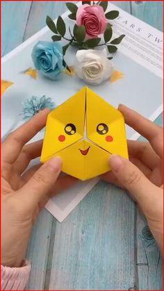 Diy Crafts Hacks, Diy Crafts For Gifts, Diy Arts And Crafts, Creative Crafts, Summer Crafts, Instruções Origami, Paper Crafts Origami, Diy Paper, Origami Videos