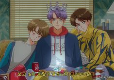 BTS anime 🌊 Old Anime, Anime Art, Sailor Moon, Kpop Anime, Bts Spring Day, Fanart Bts, Kpop Drawings, Anime Version, Estilo Anime