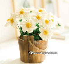 Daisies hook for interior decoration. Scheme