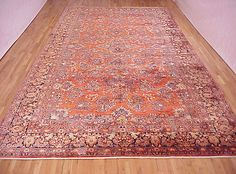 "Persian: Floral 20' 0"" x 10' 7"" Antique Sarouk at Persian Gallery New York - Antique Decorative Carpets & Period Tapestries"