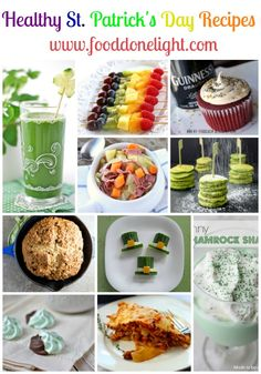 Such cute ideas! Healthy St. Patricks Day Recipes Low Calorie, Low Fat