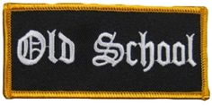 "Amazon.com: [Single Count] Custom and Unique (2"" x 4"" Inches) Uniform Identification Old School Name Tag Badge Iron On Embroidered Applique Patch {Black & White Colors}"