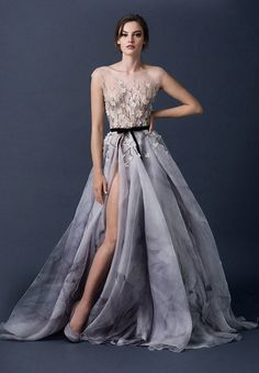 Paolo Sebastian wedding dress with a slit // Top Wedding Dress Trends for 2015 - Part 1