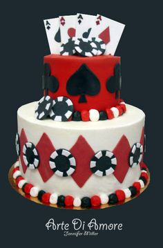Poker Grooms Cake- I also want it to say all in Cakes For Men, Cakes And More, Pretty Cakes, Cute Cakes, Fancy Cakes, Vegas Cake, Poker Cake, Poker Party, Casino Cakes