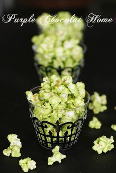 Purple Chocolat Home: Green Slimed Popcorn