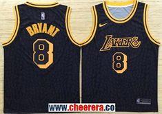Men s Nike Los Angeles Lakers  8 Kobe Bryant Black NBA Swingman City  Edition Jersey 3d1683085